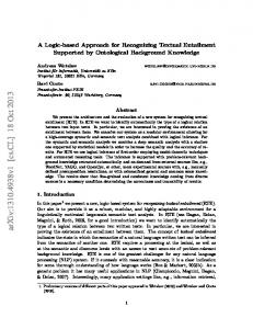 A Logic-based Approach for Recognizing Textual Entailment ...
