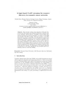 A logic-based CoAP extension for resource discovery in ... - CiteSeerX