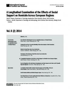 A Longitudinal Examination of the Effects of Social Support on ...