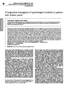A longitudinal investigation of psychological morbidity ... - BioMedSearch