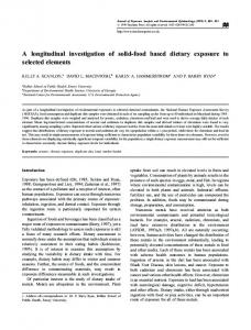 A longitudinal investigation of solid-food based dietary ... - Nature