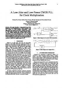 A Low-Jitter and Low-Power CMOS PLL for Clock ... - Semantic Scholar