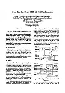 A Low Jitter, Low Power, CMOS 1.25-3.125Gbps ... - IEEE Xplore