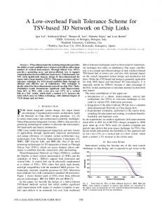 A Low-overhead Fault Tolerance Scheme for TSV-based ... - CiteSeerX
