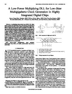 A low-power multiplying dll for low-jitter multigigahertz clock ...