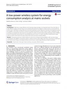A Low-Power Wireless System for Energy ... - Semantic Scholar