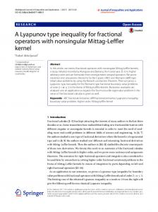 A Lyapunov type inequality for fractional operators