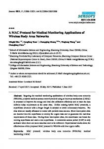 A MAC Protocol for Medical Monitoring ... - Semantic Scholar