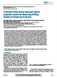 A Machine Vision Based Automatic Optical Inspection System for ...