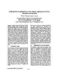 A macrocellular radio channel model for smart antenna ... - IEEE Xplore