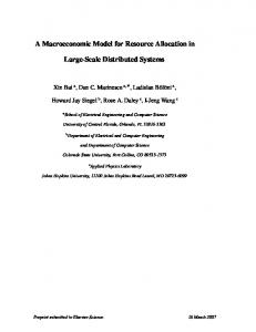 A Macroeconomic Model for Resource Allocation in Large ... - CiteSeerX
