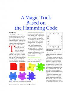 A Magic Trick Based on the Hamming Code