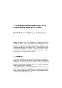 A Manipulated Deformable Object as an