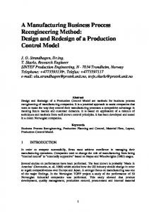 A Manufacturing Business Process Reengineering Method: Design ...