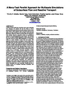 A Many-Task Parallel Approach for Multiscale Simulations of ...