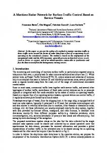 A Maritime Radar Network for Surface Traffic Control ... - IEEE Xplore