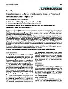 A Marker of Cardiovascular Disease in Patients with Chronic Kidney ...