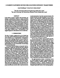 A MARKOV CLUSTERING METHOD FOR ANALYZING ... - CiteSeerX