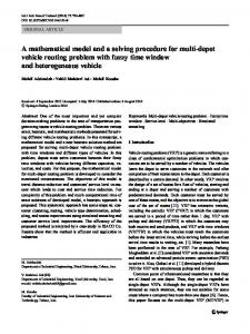 A mathematical model and a solving procedure for ... - Springer Link