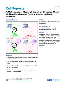 A Mathematical Model of the Liver Circadian Clock Linking Feeding ...