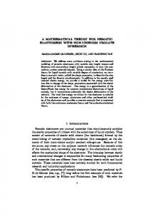 A MATHEMATICAL THEORY FOR NEMATIC ELASTOMERS WITH