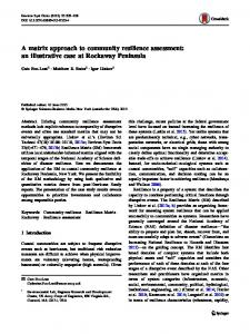 A matrix approach to community resilience assessment - Springer Link