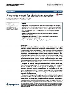 A maturity model for blockchain adoption - SpringerOpen