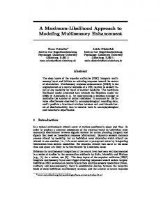 A Maximum-Likelihood Approach to Modeling
