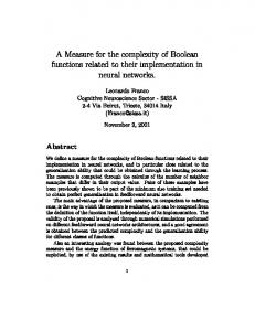 A Measure for the complexity of Boolean functions related to