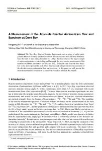 A Measurement of the Absolute Reactor Antineutrino Flux and ...