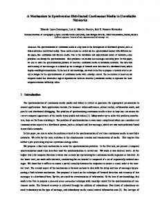 A Mechanism to Synchronize Distributed ... - Semantic Scholar