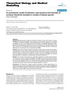 A mechanistic model of infection: why duration and intensity of ...