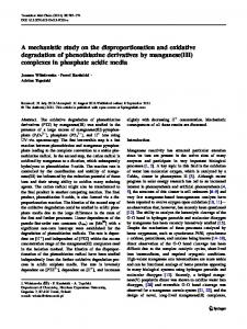 A mechanistic study on the disproportionation and ... - Springer Link