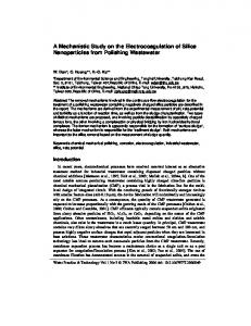 A Mechanistic Study on the Electrocoagulation of ...