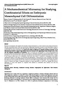 A Mechanochemical Microarray for Studying Combinatorial Effects on ...