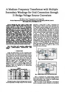 A Medium-Frequency Transformer with Multiple ... - IEEE Xplore