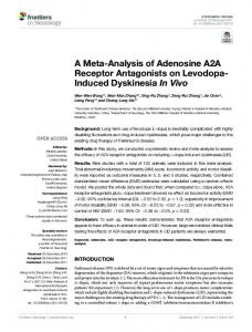A Meta-Analysis of Adenosine A2A Receptor ... - Semantic Scholar