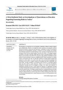 A Meta-Synthesis Study on Investigations of