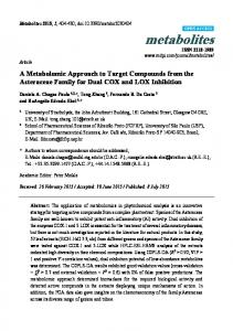 A Metabolomic Approach to Target Compounds from the ... - MDPI