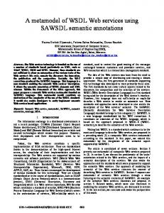A metamodel of WSDL Web services using SAWSDL ... - IEEE Xplore