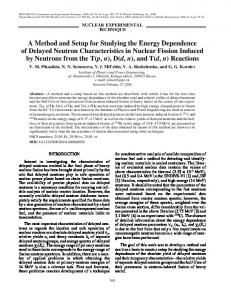A method and setup for studying the energy ... - Springer Link