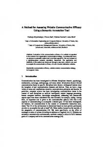 A Method for Assessing Website Communicative Efficacy ... - Papyrus
