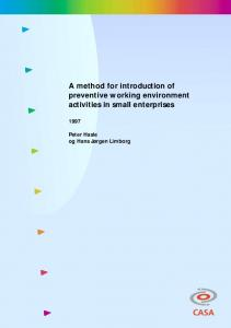 A method for introduction of preventive working ... - CiteSeerX
