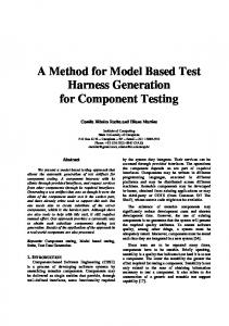 A Method for Model Based Test Harness Generation for ... - SciELO