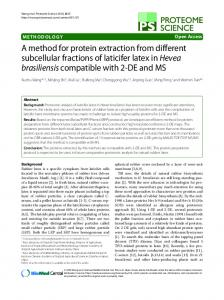 A method for protein extraction from different subcellular fractions of ...