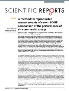 A method for reproducible measurements of serum