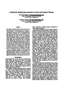 A Method for Studying Representation of Action and ... - CiteSeerX