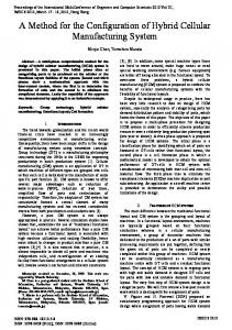 A Method for the Configuration of Hybrid Cellular ... - Semantic Scholar