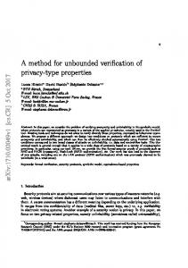 A method for unbounded verification of privacy