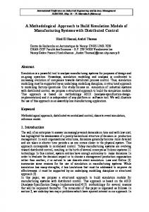 A Methodological Approach to Build Simulation Models of ...